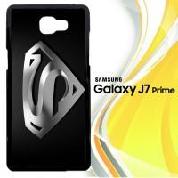 Superman Silver Logo Z1291 Casing HP Samsung Galaxy J7 Prime Custom