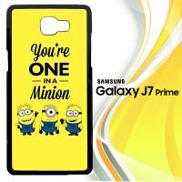 One in a Minion X3530 Casing HP Samsung Galaxy J7 Prime Custom Case C