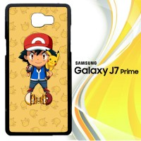pokemon ash ketchum with pikachu team L0777 Casing HP Samsung Galaxy J