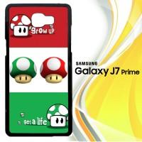 Super Mario Grow Up and Get A Life E0433 Casing HP Samsung Galaxy J7
