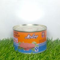 Canned Pork Luncheon Meat Merk MaLing 397Gr