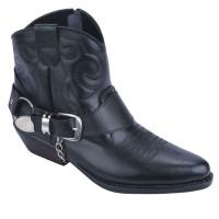 harga Sepatu Boots Pria / Sepatu Touring Bikkers Motor / Kulit Hitam Catenzo Tokopedia.com
