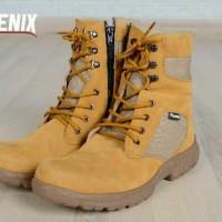 harga Sepatu Pria Boots Original Phoenix Delta Suede Cream Leather Tokopedia.com