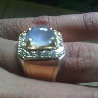 cincin blue star sapphire keliling berlian banjar martapura