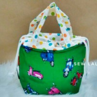 tas serut vespa hijau / lunch bag scooter