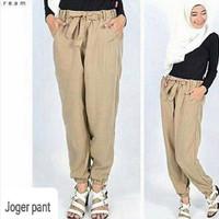 Jual Jogger Pant Cream / Celana Panjang / Celana Wanita Muslim Murah