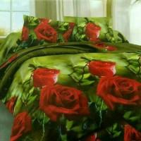 Sprei katun jepang mawar daun 90x200