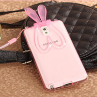 RABBIT TRANSPARAN Samsung Note 2 / Note 3 Case HP Thin silicone mirror