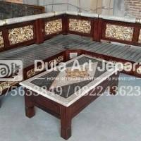 Kursi Tamu sudut model bambu furniture Jepara