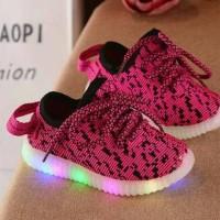 Jual sepatu snaker led pink Murah