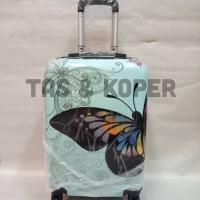 koper fiber 20inch gambar kupu-kupu biru