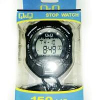 STOP WATCH Q&Q DIGITAL 150 LAP MEMORY ORIGINAL ANTI AIR