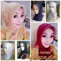 Hijab instan organza dot
