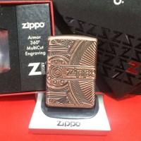 Original Zippo Armor 29523 Gears Antiq