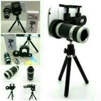 Jual Universal Tele Zoom Lensa 8x + TRIPOD HOLDER U Murah