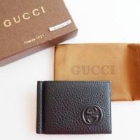Gucci GC Money Clip Dompet Black Hitam Replica Mirror
