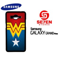 Casing HP Samsung Grand Prime Wonder Woman logo Custom Hardcase