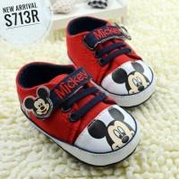 Babymix - Sepatu Bayi Prewalker Bayi Sepatu Anak - Mickey Face (Red)