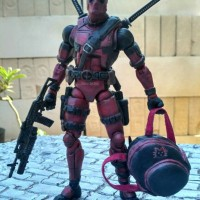 Jual DeadPool Movie Custom handmade xmen Loose dengan Tas Hello Kitty Murah