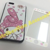iphone 6 / 6s Soft Case & Tempered Glass Gambar My Melody Back Cover