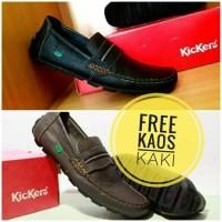 Jual Sepatu Casual Slip On Kulit Kickers Wanita Pria Sepatu Casual Pantofel Murah