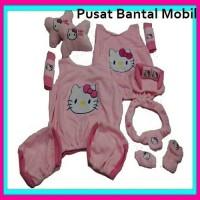 Bantal Mobil Set hello kitty 8 in 1 full sarung jok s Lucu UNIK Karak