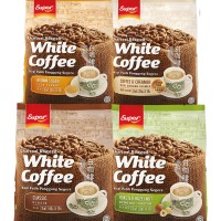 Super White Coffee 3in1 600G 15'S : Classic, Hazelnut, Brown, Creamer