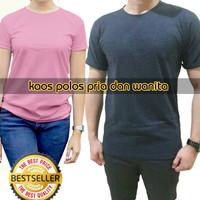Jual GROSIR Kaos Polos Oblong Pendek 100% Real Soft Combed 30s DISTRO Murah