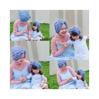 Jual Turban Pita Couple Ibu Anak Turban Bow 2in1 Murah