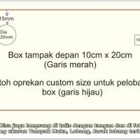 Biaya Lobang box kotak aluminium stainless besi custom