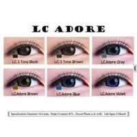 Softlens Living Color Adore Grey -3.25 s/d -6.00 / Softlense LC