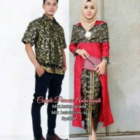 Jual Batik Couple Gamis Sarimbit Princess Aura Kasih Termurah Best Seller Murah