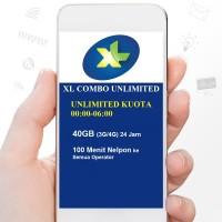 Paket Data Internet XL COMBO UNLIMITED 40GB (3G/4G) 24 Jam