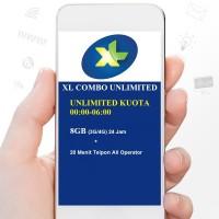 Paket Data Internet XL COMBO UNLIMITED 8GB (3G/4G) 24 Jam