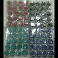 Kotak cincin akrilik (per kodi) penyimpanan cincin transparan acrylic