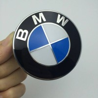 Emblem bulat 82mm logo BMW biru putih kap mesin/bagasi