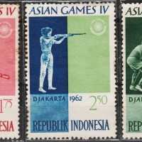 10130	INDONESIA MINT 3V 1962 ASIAN GAMES 353355357