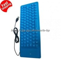 Portable Flexible Keyboard Silicon USB 2.0 NOT Bluetooth for Laptop