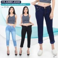 Celana 7/9 Stik Balik Jumbo Jeans Pants Girl Wanita Women Denim