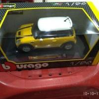 Bburago - MINI COOPER S kuning skala 1:24