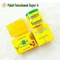 Paket Asli Temulawak Super A Ori 3in1 Cream dan sabun