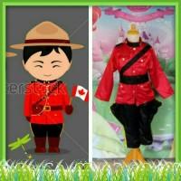 Kostum Baju Negara Canada Kanada Anak Laki-Laki Import