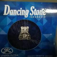 Liontin Dancing Stone Bear Emas Putih Kadar 75