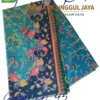 Harga kain batik pekalongan primisima halus cibulan 45 biru unggul | Hargalu.com