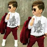 harga 3in1 Baju Anak Setelan Jacket Celana Spiderman Laki Laki / Cowo Murah Tokopedia.com