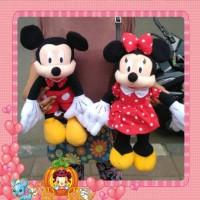 Jual Sepasang Boneka  Mickey dan Minnie Mouse 50cm Murah