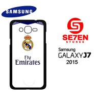 Casing HP Samsung J7 2015 real madrid white Custom Hardcase