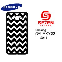 Casing HP Samsung J7 2015 pattern white and black Custom Hardcase