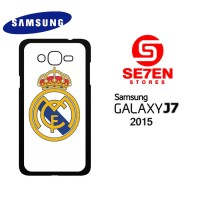 Casing HP Samsung J7 2015 Real Madrid Logo White Custom Hardcase