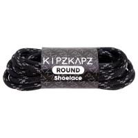 KipzKapz RS17 Black Grey 115cm/140cm/160cm-Tali Sepatu Bulat / Round